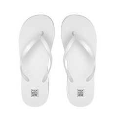 realistic 3d white blank empty flip flop vector image