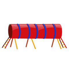 Red tube with ladders at both ends vector
