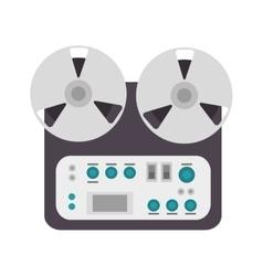 Reel tape recorder vector