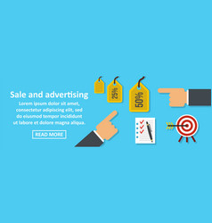 sale and advertising banner horizontal concept vector image