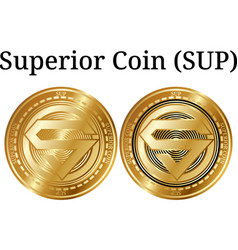 Set of physical golden coin superior coin sup vector