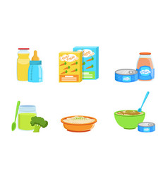 set various bafood vector image