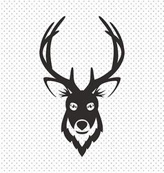 Simple Black Animal Portrait Deer vector