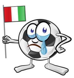 Soccer ball cartoon with italian flag vector