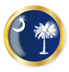 south carolina flag button vector image