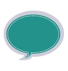 Sticker oval bubble frame callout dialogue vector