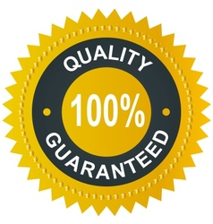 Sticker - quality 100 guaranteed vector