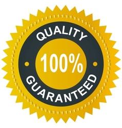 Sticker - quality 100 guaranteed vector