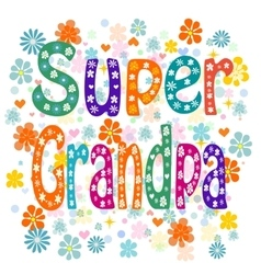 Super grandpa vector image