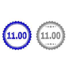 textured 1100 scratched stamp seals with ribbon vector image