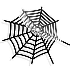 The spiderweb icon Web symbol vector image