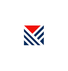 triangle stripe abstract company logo vector image