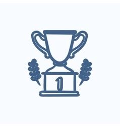 Trophy sketch icon vector image