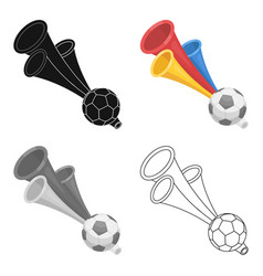 Trumpet football fanfans single icon in cartoon vector