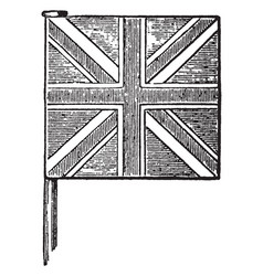 United kingdom union jack vintage vector