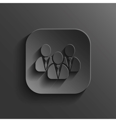 User group network icon - black app button vector image
