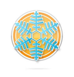 web december symbol blue color isolated vector image