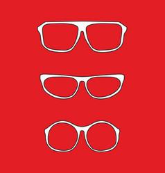 White nerd glasses vector