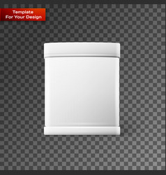 white square on transparent background vector image