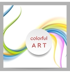Abstract colorful waves and blank circle on top vector image vector image