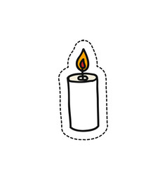 candle doodle icon vector image vector image
