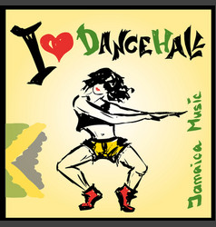 dancer dancehall style hand drawing vector image