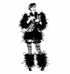 fashion fur coat vector image vector image
