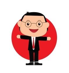 japanese businessman vector image