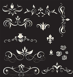 A set of vintage design elements - vector image