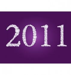 diamond 2011 year vector image