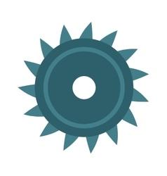 Disc saw blade metal industry tool circular vector