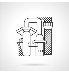 Pulp and paper mill line icon vector