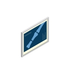 Bones x-ray dogs icon isometric 3d style vector image vector image