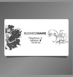 Business card for surveyor vector