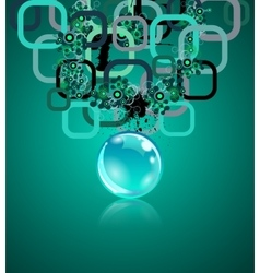 Concept with rectangles and sphere Grunge vector image vector image