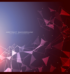 futuristic background with dots lines and vector image