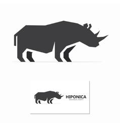 rhino label or logo designs vector image vector image