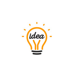 Stylized sign of lightbulbs white and vector