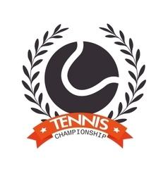 tennis championship ball label design vector image