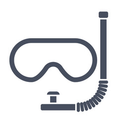Dive mask icon vector