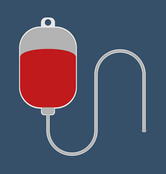 Dropper with blood medical object flat icon vector