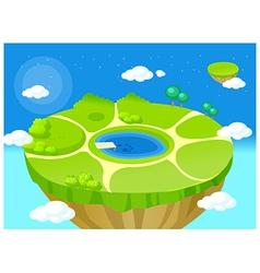 mountain top lake vector image vector image
