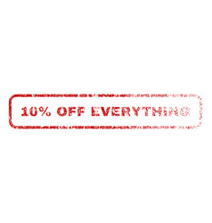 10 percent off everything rubber stamp vector image