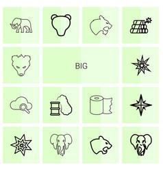 14 big icons vector