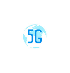 5g sign design template vector image