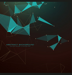 abstract dark background with triangles dots and vector image