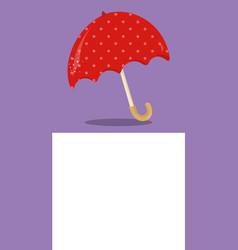 April showers red umbrella 04 vector