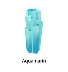 Aquamarin and beryl mineral composed of beryllium vector