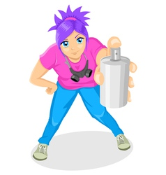 Attractive Girl Spraying vector image