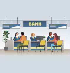 bank office interior professional banking service vector image